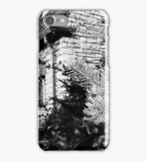 Black and White of a Small House  iPhone Case/Skin