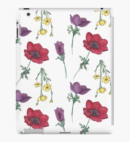 Watercolor Flower Pattern iPad Case/Skin