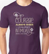 """Jane Austen: """"My Courage Always Rises"""" Unisex T-Shirt"""
