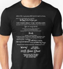 Sherlock - Best Quotes from Sherlock T-Shirt