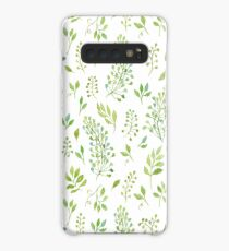 Watercolor leaves pattern Case/Skin for Samsung Galaxy