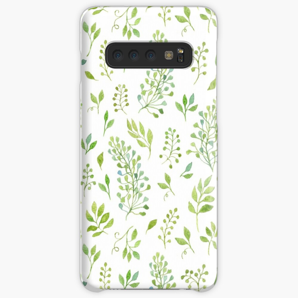 Watercolor leaves pattern Cases & Skins for Samsung Galaxy