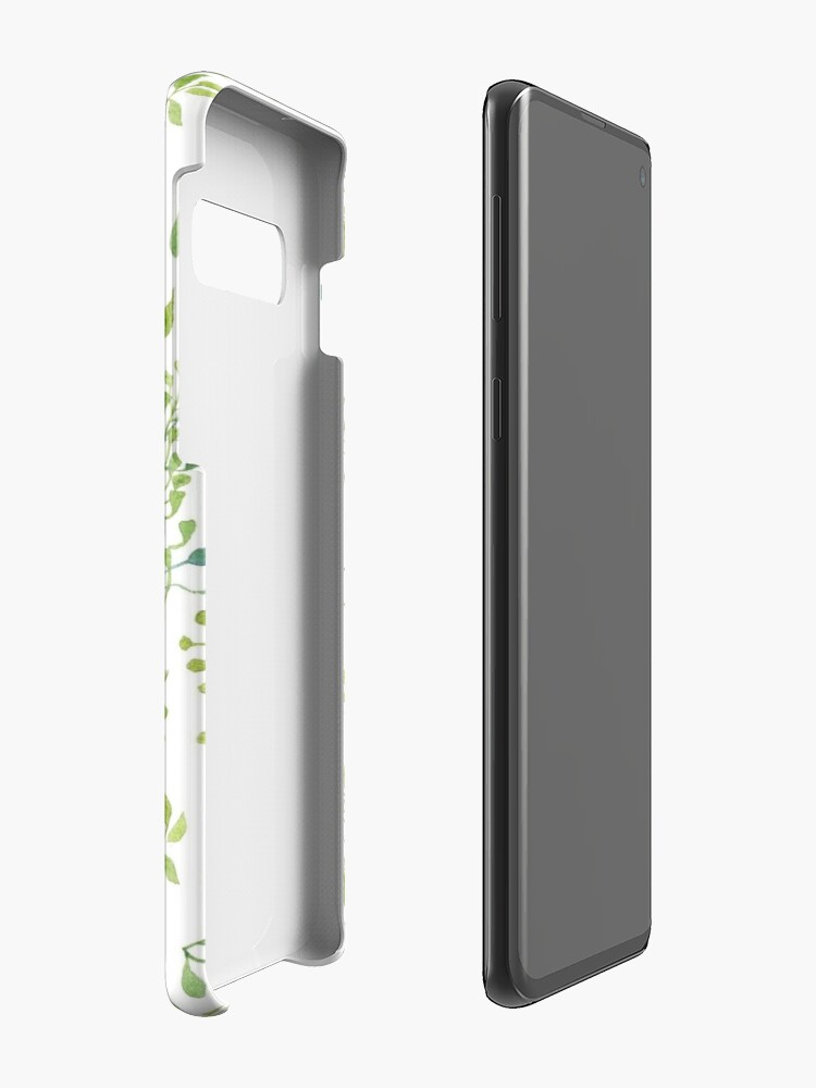 Alternate view of Watercolor leaves pattern Cases & Skins for Samsung Galaxy