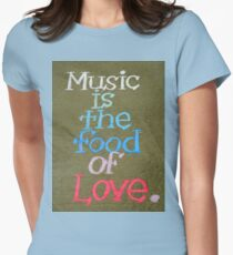 Music And Love Womens Fitted T-Shirt