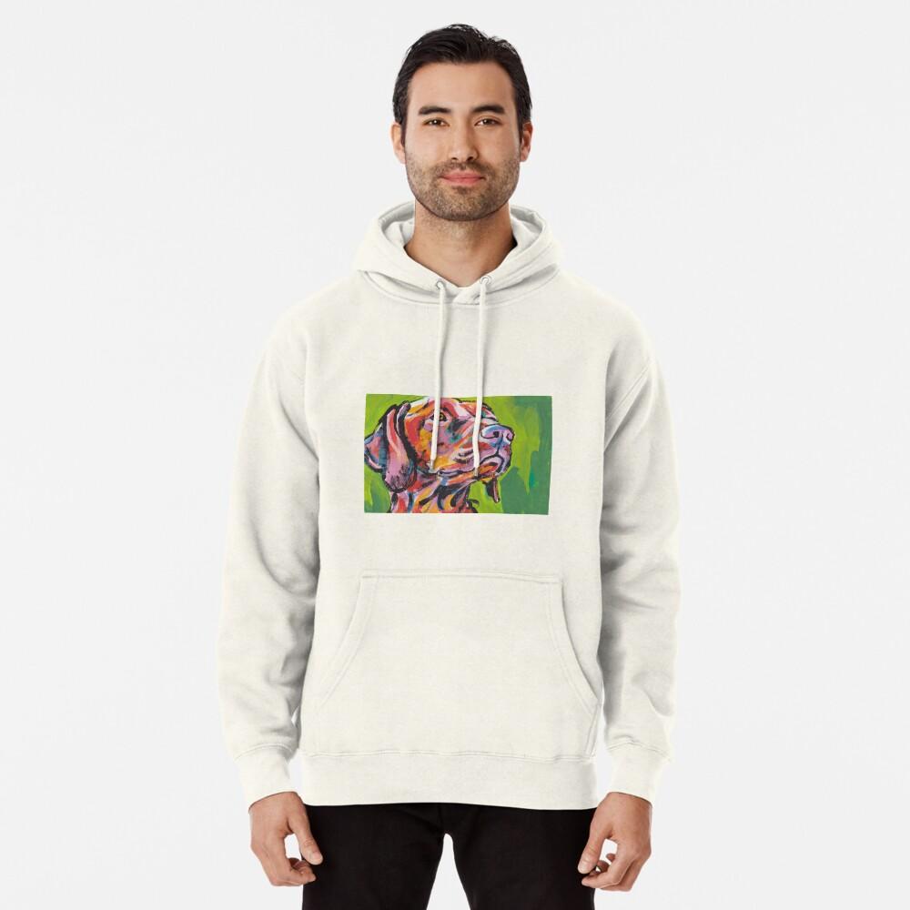 Vizsla Dog Arte pop colorido brillante Sudadera con capucha