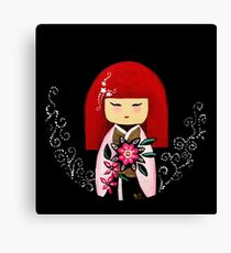Red Kimi Doll Canvas Print