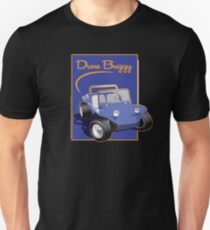 Dune Buggy Blue in Blue Box w Script Unisex T-Shirt
