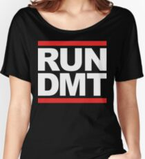 RUN DMT (Parody) White Ink Women's Relaxed Fit T-Shirt