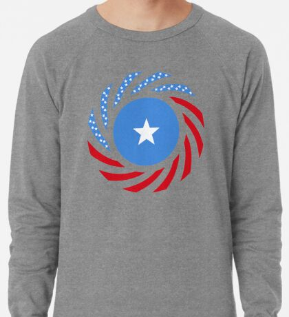Somali American Multinational Patriot Flag Series Lightweight Sweatshirt