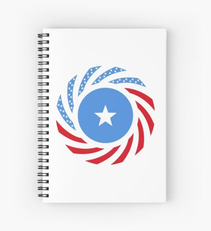 Somali American Multinational Patriot Flag Series Spiral Notebook
