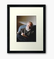 Father (Christmas 2006, North Saanich, Vancouver Island, British Columbia, Canada) Framed Print