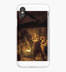 Joseph Wright of Derby,  An Iron Forge  iPhone Case/Skin