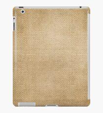 Burlap Feed sack Blue stripes iPad Case/Skin