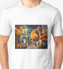 CAFE IN THE OLD CITY - Leonid Afremov Unisex T-Shirt