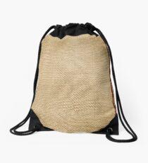 Burlap Feed sack Red stripes Drawstring Bag