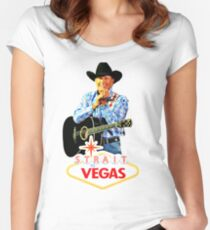 george strait to las vegas 2017 Women's Fitted Scoop T-Shirt