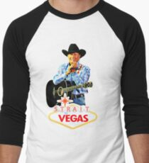 george strait to las vegas 2017 Men's Baseball ¾ T-Shirt