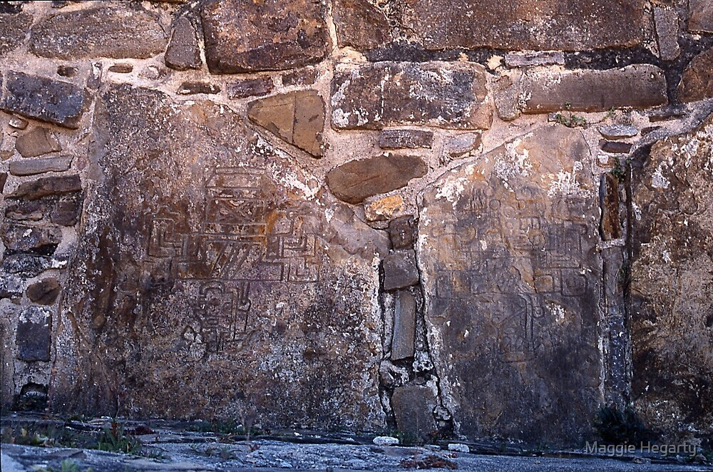 Mayan pictographs, Pelanque by Maggie Hegarty