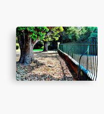 Church Yard Canvas Print
