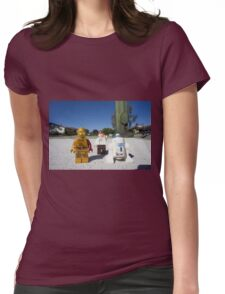 Stop and Chat Womens Fitted T-Shirt
