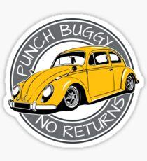 Punch Buggy, No Returns Sticker