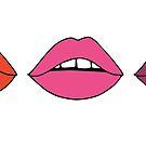 Viele Lippen von Corey Paige Designs