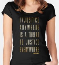 Martin Luther King Jr. Typography Quotes Women's Fitted Scoop T-Shirt