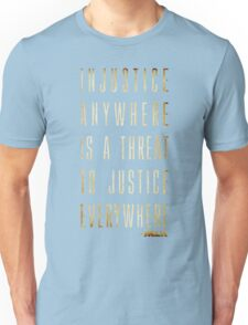 Martin Luther King Jr. Typography Quotes Unisex T-Shirt