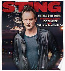 sting 57th & 9th tour 2017 Poster