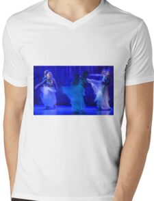 Group of contemporary dancers performing on stage Mens V-Neck T-Shirt