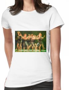 Group of contemporary dancers performing on stage Womens Fitted T-Shirt