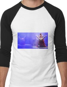 Group of contemporary dancers performing on stage Men's Baseball ¾ T-Shirt