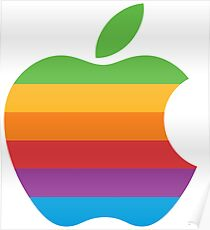 Retro Apple Logo Poster