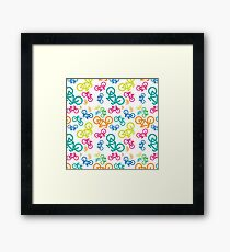 Colorful bikes Framed Print