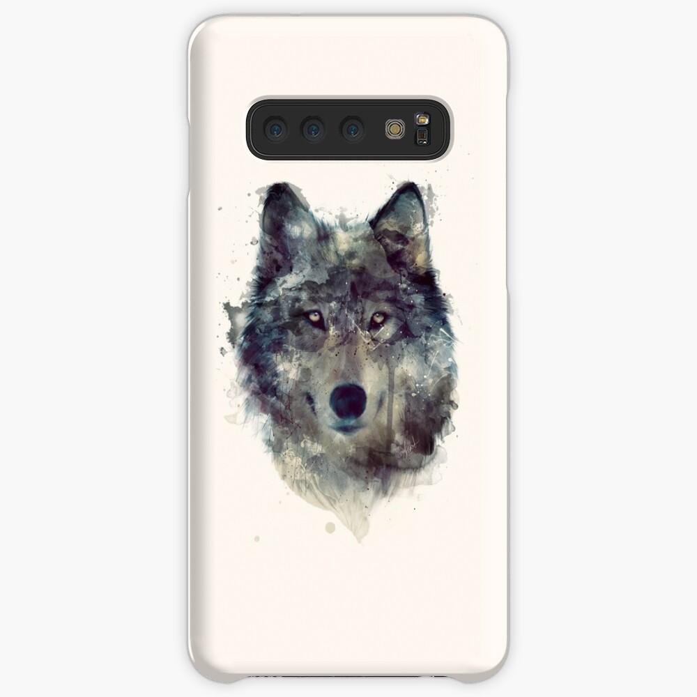 Wolf // Durchhalte dich Hülle & Klebefolie für Samsung Galaxy