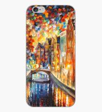 AMSTERDAM - NIGHT CANAL - Leonid Afremov iPhone Case