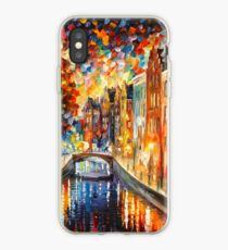 AMSTERDAM - NACHTKANAL - Leonid Afremov iPhone-Hülle & Cover