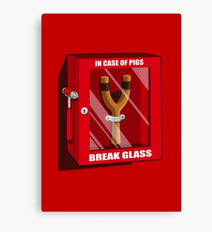 In case of pigs Canvas Print