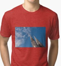 Vienna Austria Spires of the neo-Gothic Votivkirche (Votive Church) Tri-blend T-Shirt
