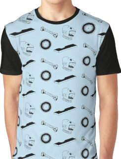 Space Odyssey Iconography (blue) Graphic T-Shirt