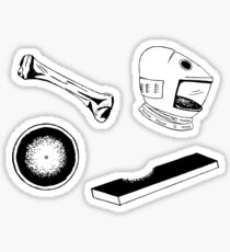 Space Odyssey Iconography (blue) Sticker