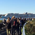Norwegian Breakaway Cruise Ship Passes the High Line, New York City by lenspiro