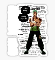 Roronoa Zoro - nothing happened [WB] Sticker