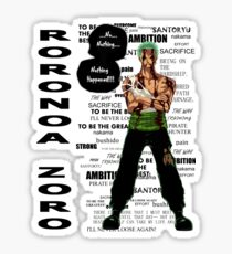 Roronoa Zoro - nothing happened [LIGHT] Sticker