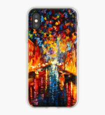 NIGHT COPENHAGEN - Leonid Afremov iPhone Case