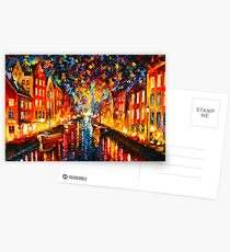 NIGHT COPENHAGEN - Leonid Afremov Postcards