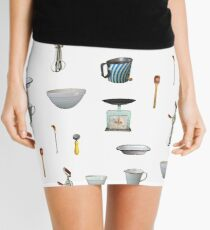 Love to Bake! - white background Mini Skirt