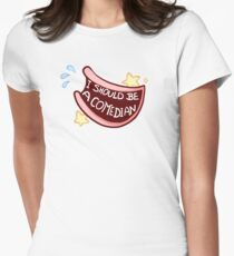 Comedian Badge Women's Fitted T-Shirt