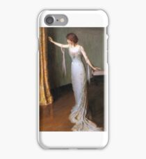Lilla Cabot Perry, - Lady in an Evening Dress, iPhone Case/Skin