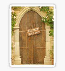 Private door Sticker